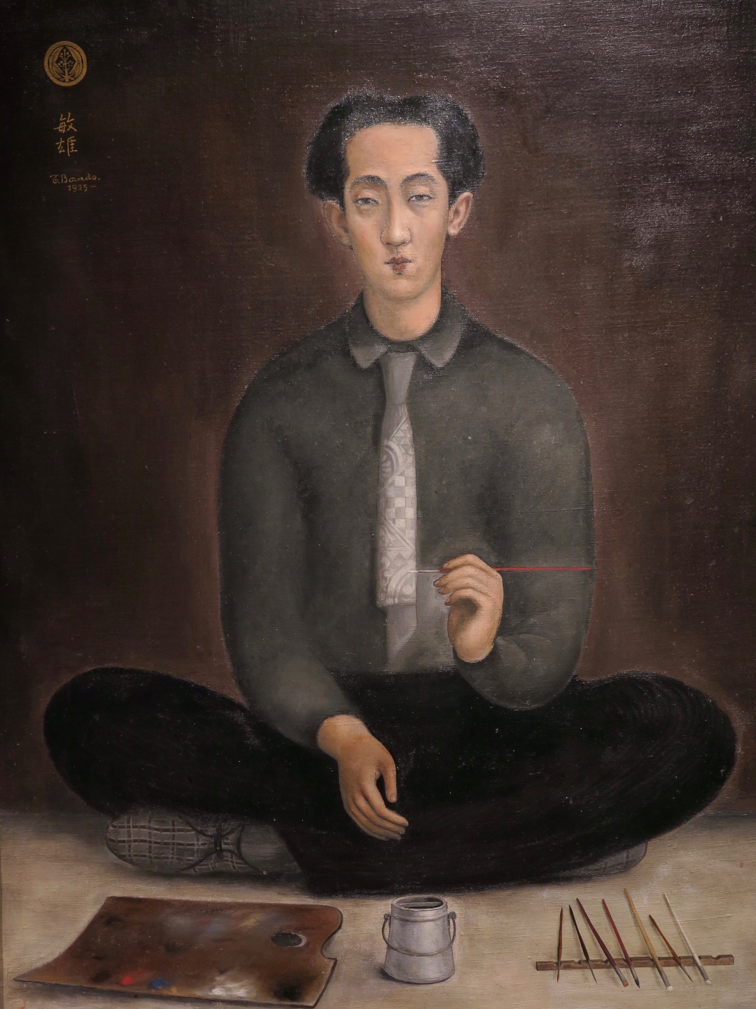 BANDO Autoportrait 1923 Huile sur toile Coll. part.