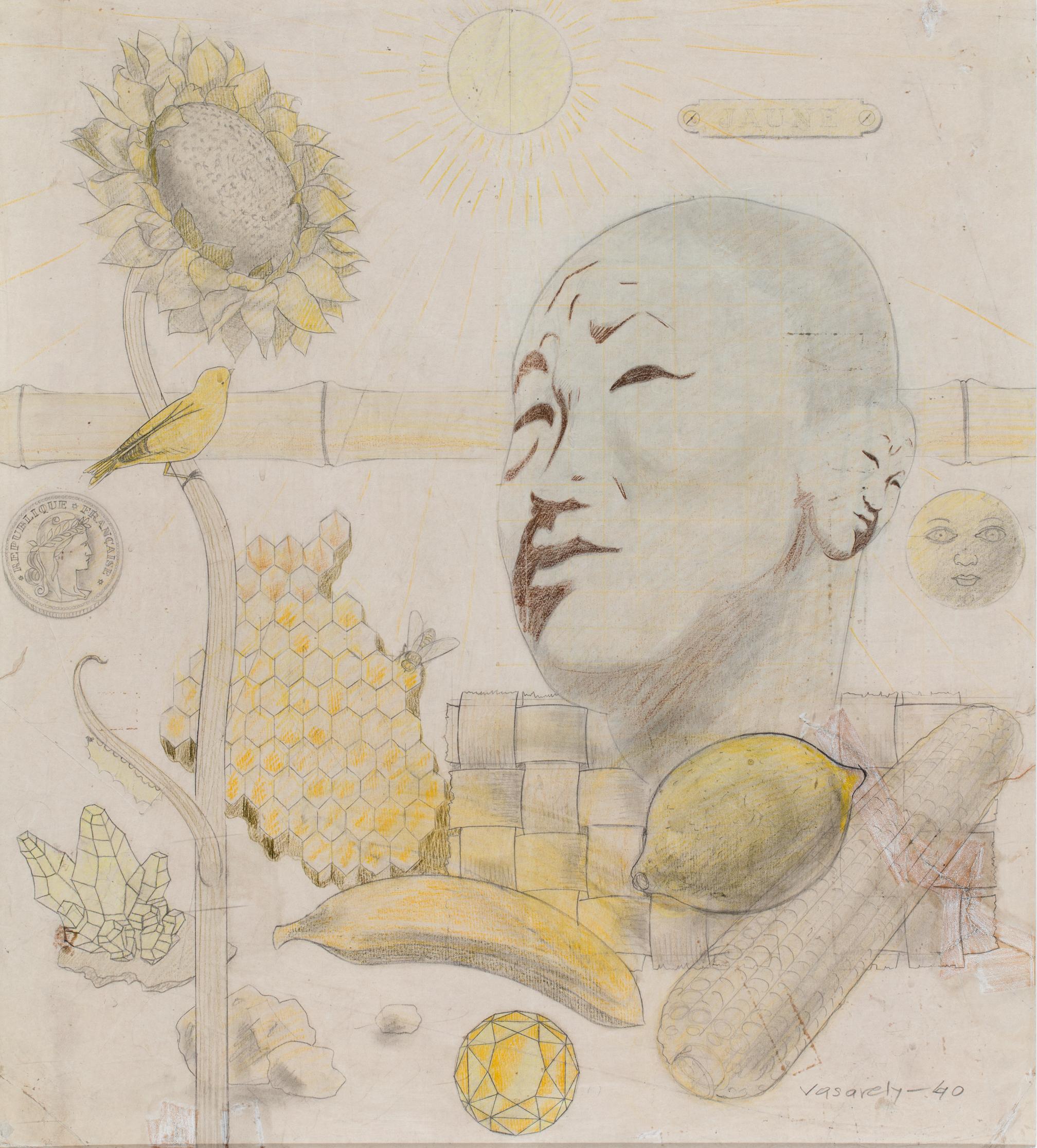 Victor Vasarely Étude jaune 1940