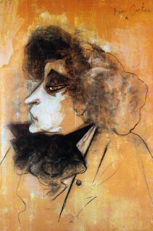 Portrait de Colette 1944 Dessin au charbon de bois et farine sur bois