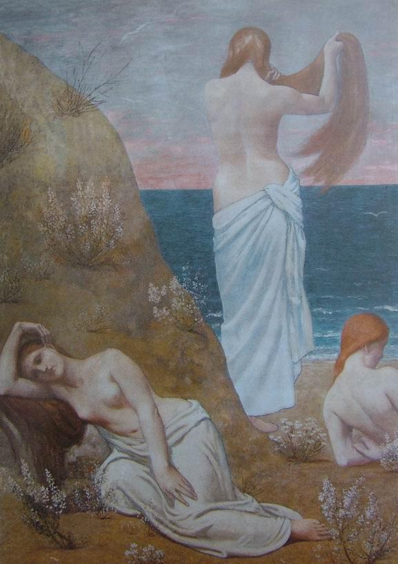 Jeunes femmes au bord de la mer. 1879