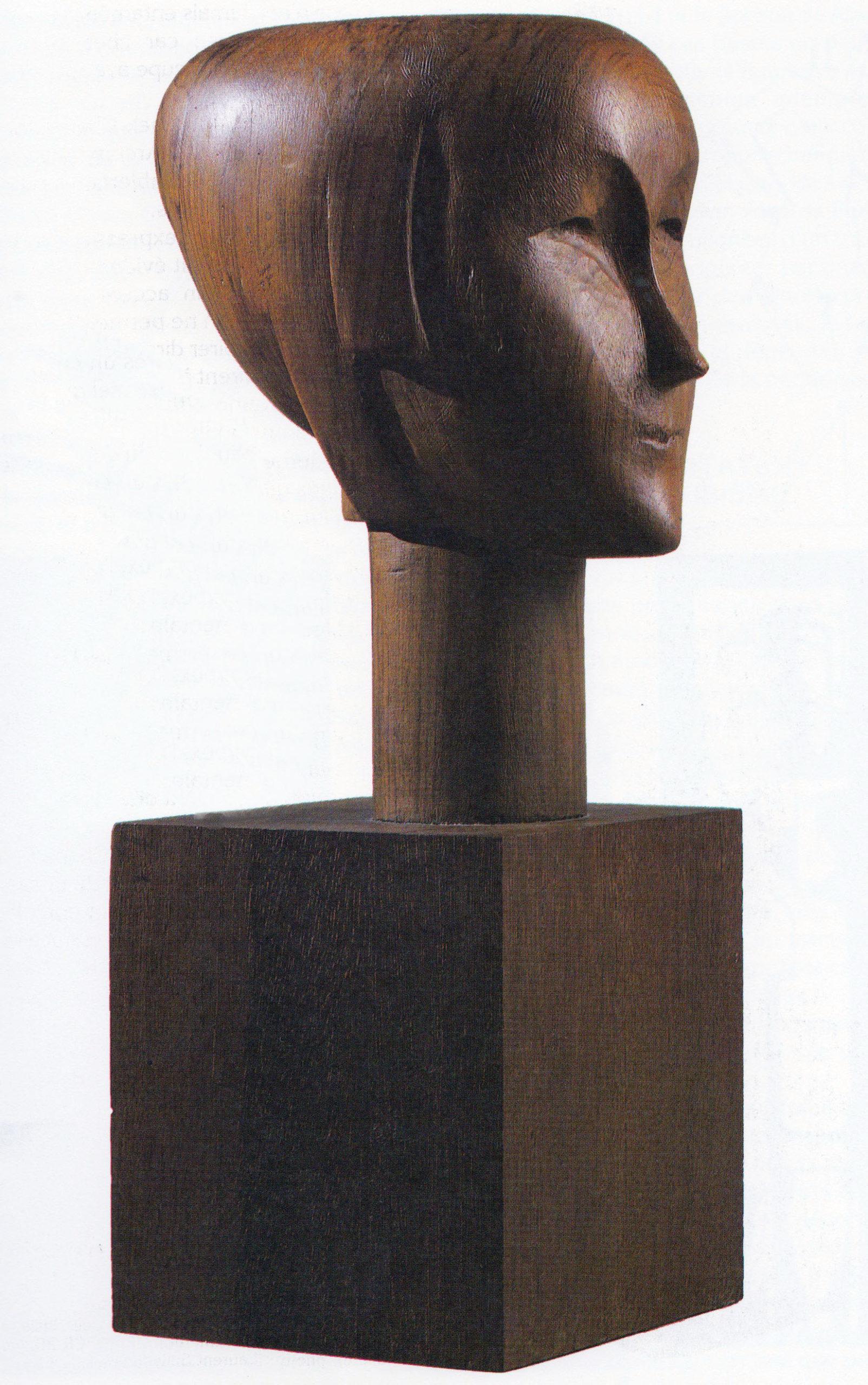 Sérénité 1916 - Bois sculpté poli, taille directe 47,5x16,6x22cm Coll. part.