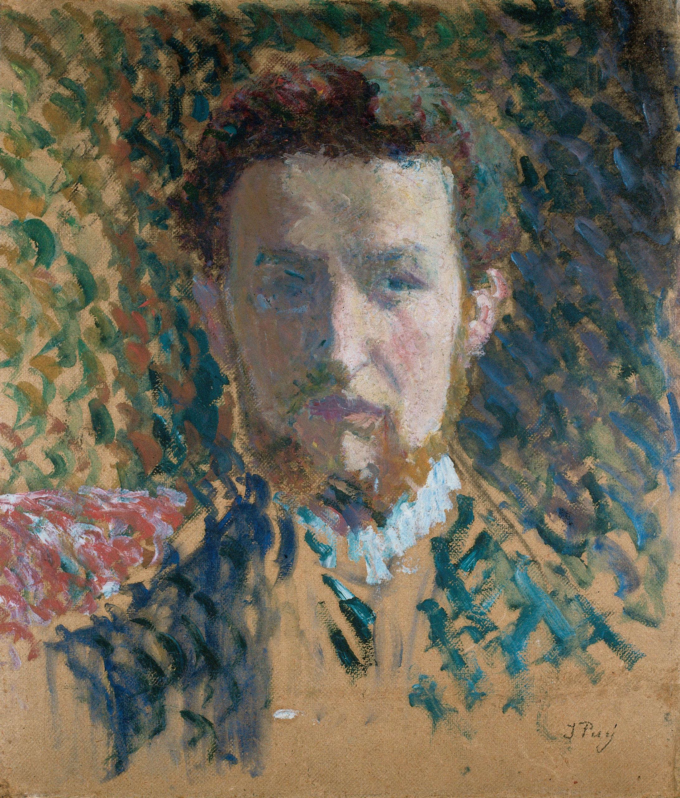 Autoportrait à la barbe, 1901, Huile sur carton marouflé sur toile, 46 x 39,5 cm, collection Jean-Jacques Bauswein
