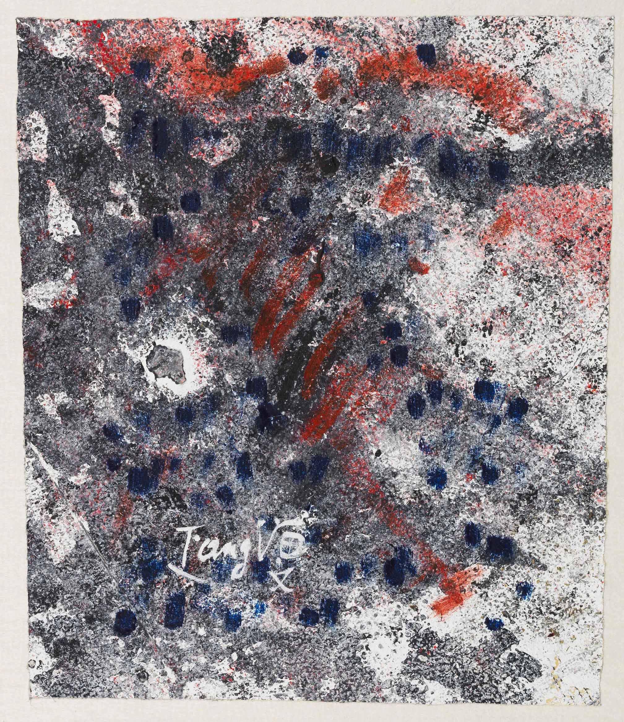 Sans titre, circa 1965, huile sur papier journal, 20x18 cm