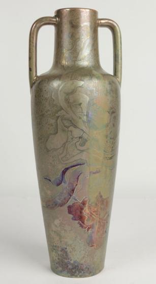 Vase de Clément Massier 32cm Art Nouveau