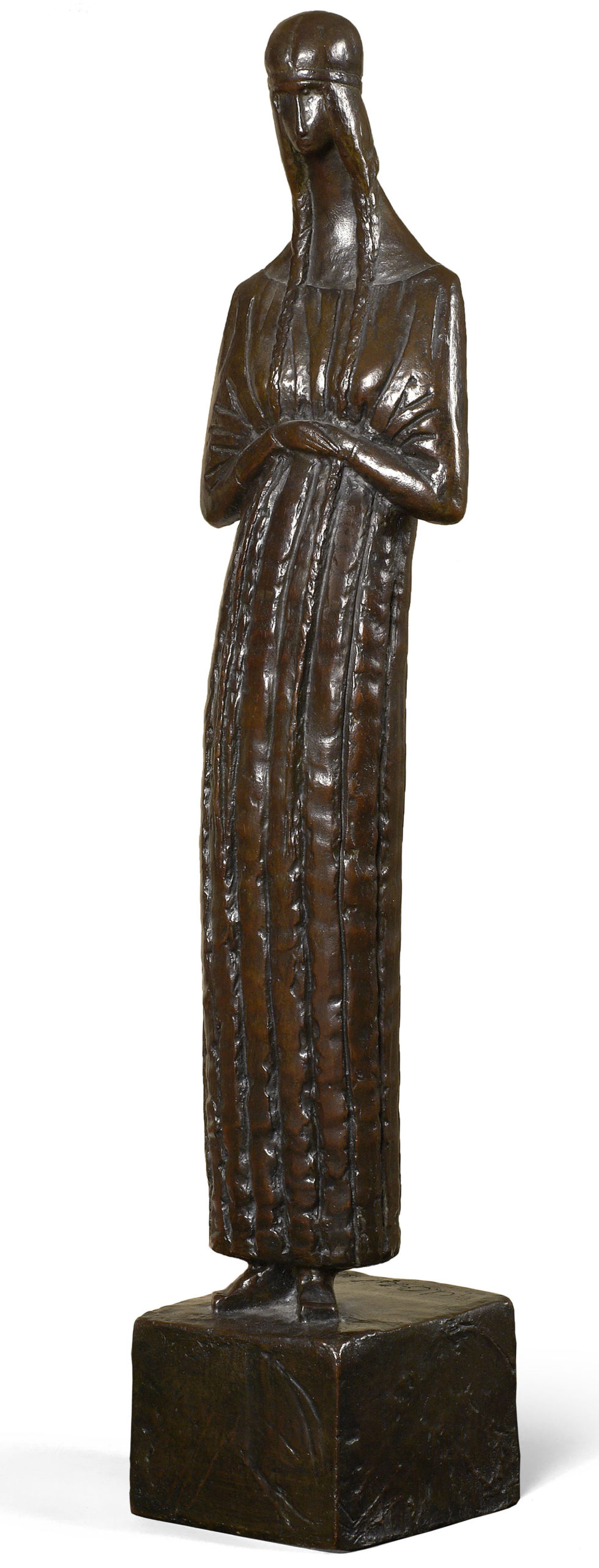 Vierge – Jeanne Hébuterne 1914 - Épreuve en bronze, 54x11x9cm Coll. part.