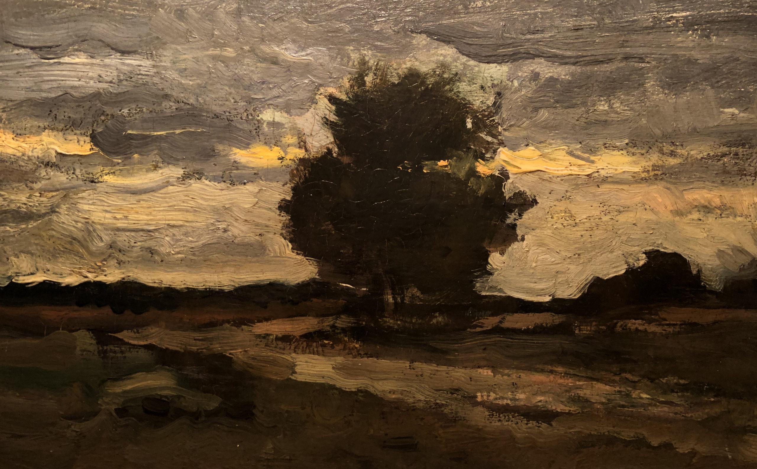 Charles François Daubigny, Chemin à Auvers, Huile sur toile, (détail) Coll. part.