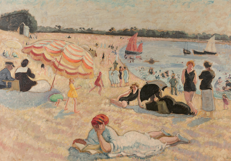 La Plage à Bénodet, 1904, collection particulière. Huile sur toile, 73 x 116 cm, collection du Dr Vacher