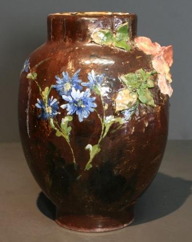 Vase en céramique Haviland 34x25cm Décor de Edouard Dammouse © photo de l'expert