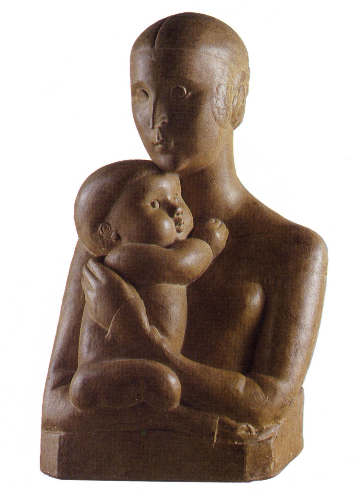 Maternité 1924 Épreuve en terre cuite, 62,8x38x31,5cm Coll. part.
