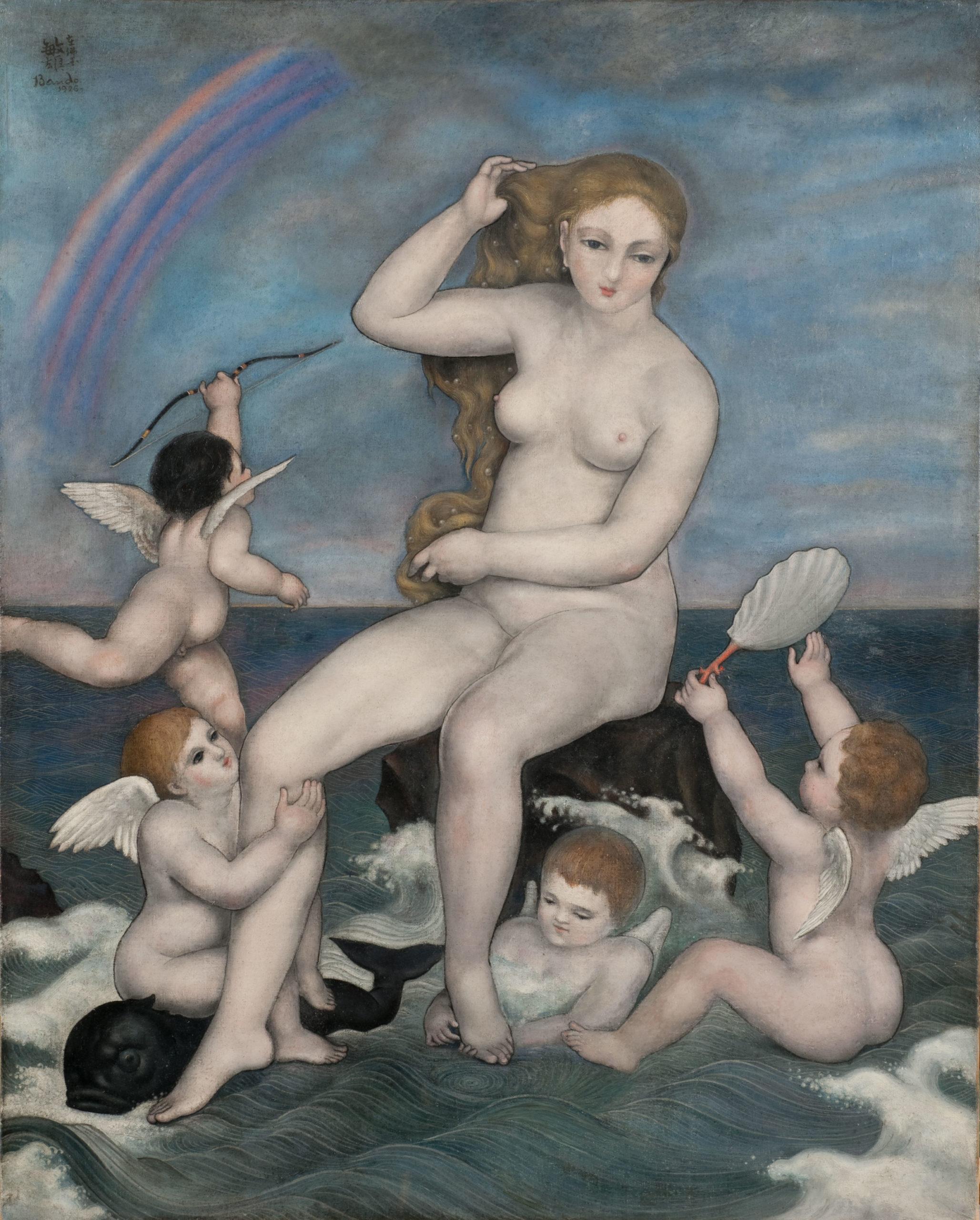 BANDO La Toilette de Vénus 1926 Huile sur toile Coll. part.