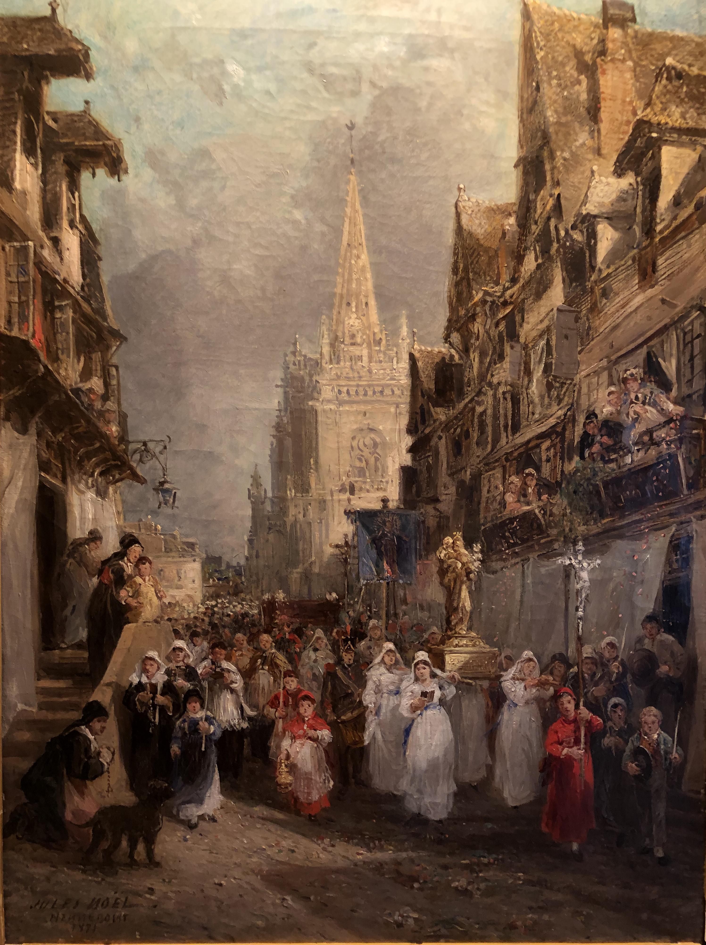 Jules Noël, La Communion à Hennebont, 1871, Huile sur toile, Coll. part.