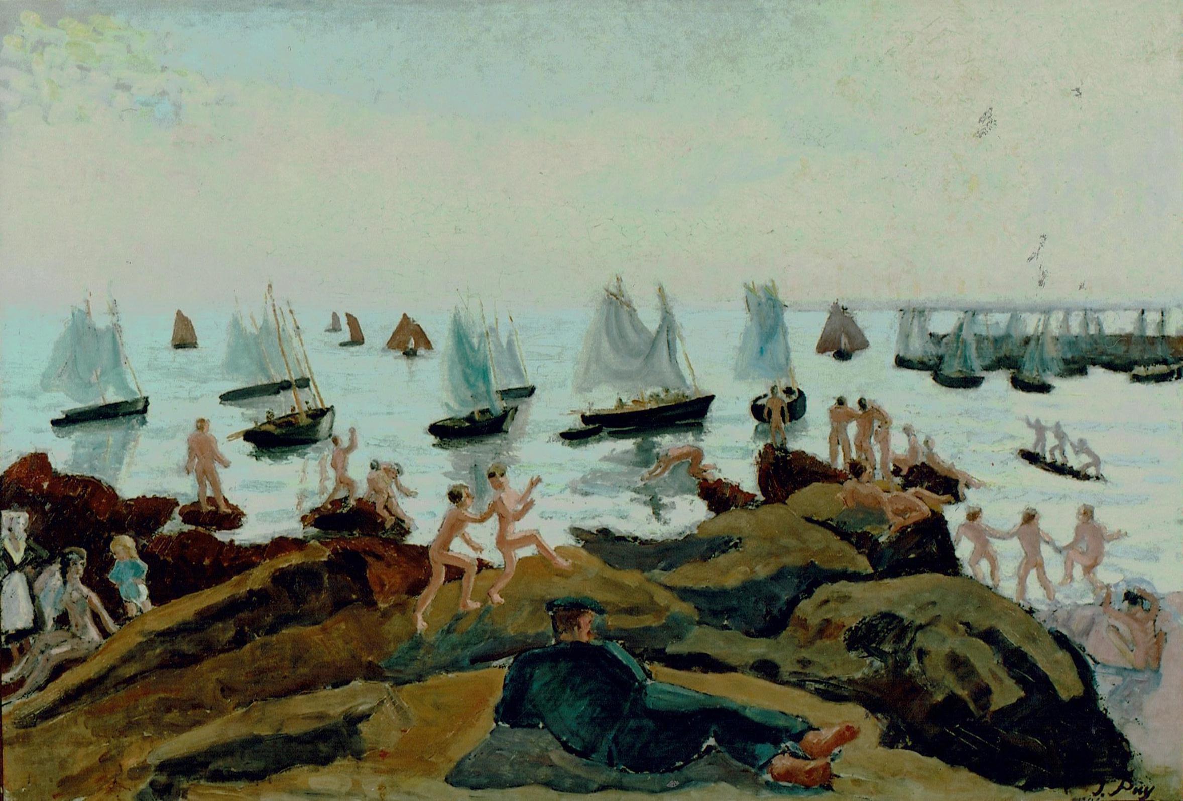 Ébats des baigneurs, 1906, Huile sur toile, 73 x 105 cm, collection Paul Dini
