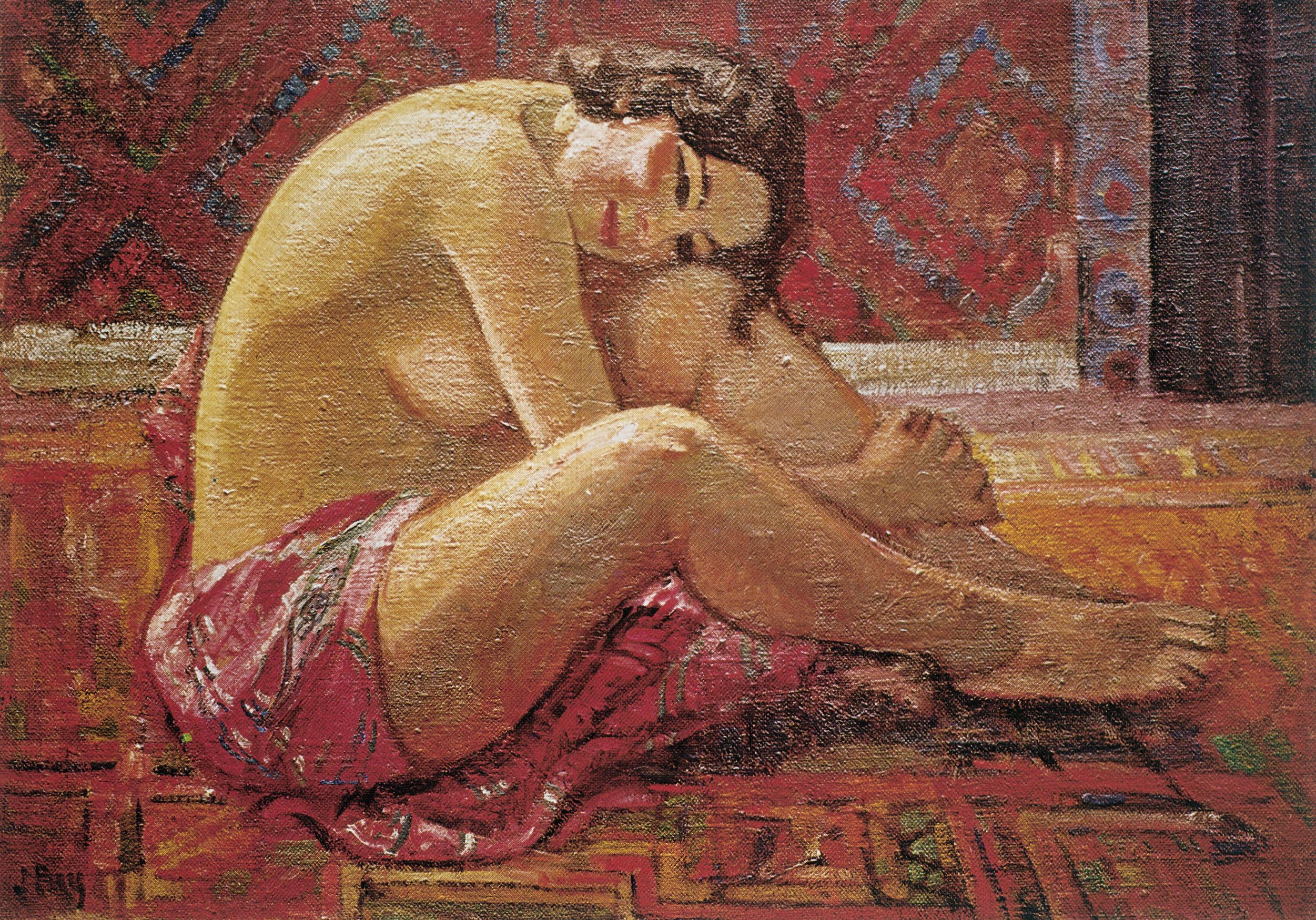 Mireille au peignoir rouge, 1922, Huile sur toile, 65 x 92 cm, Petit Palais, Genève, collection particulière