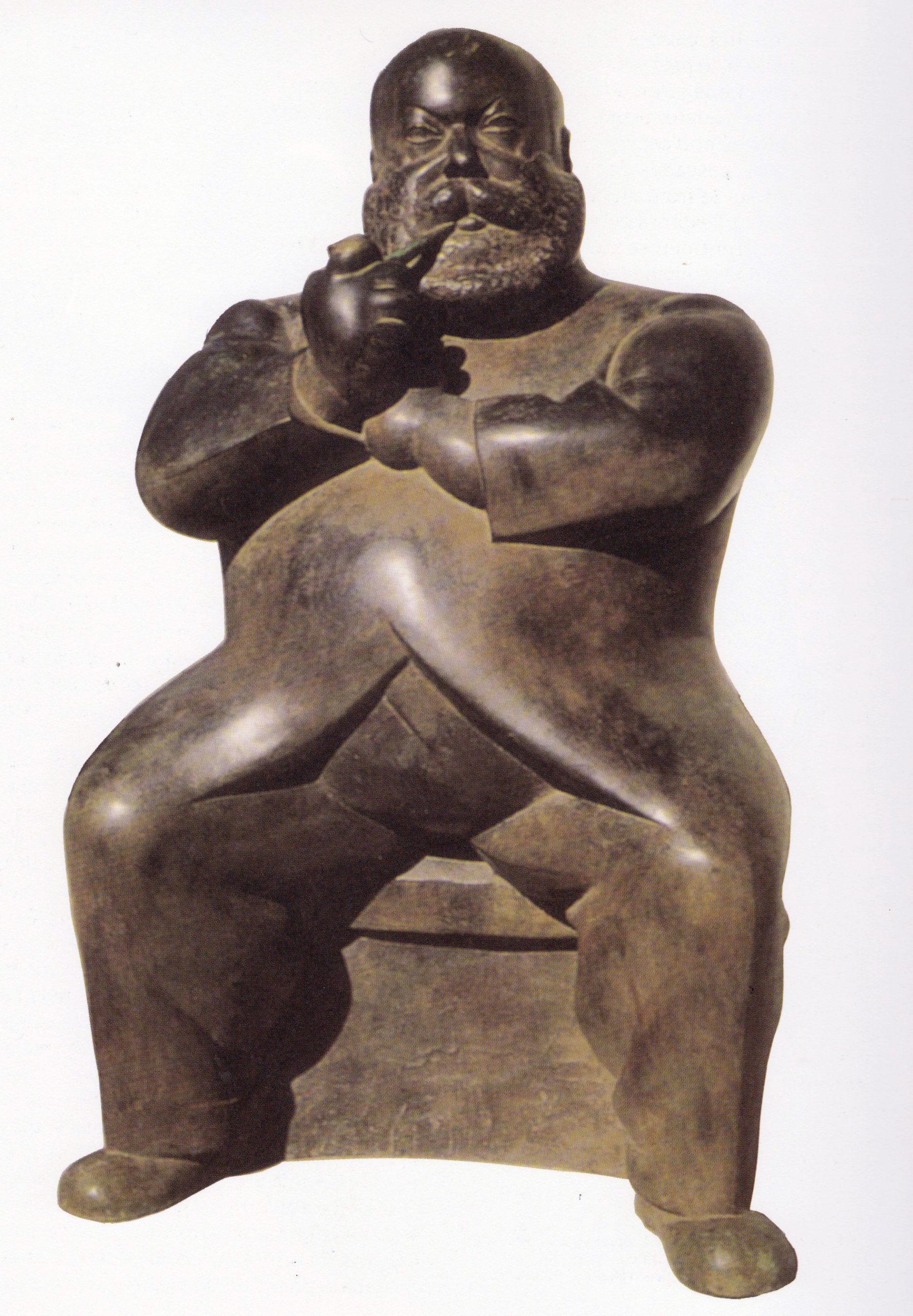 Widhopff – l'homme à la pipe 1924 - Épreuve en bronze fonte d'époque Alexis Rudier, 105x62,5x50,5cm Coll. Musée d'Israël, Jérusalem © archives de l'expert