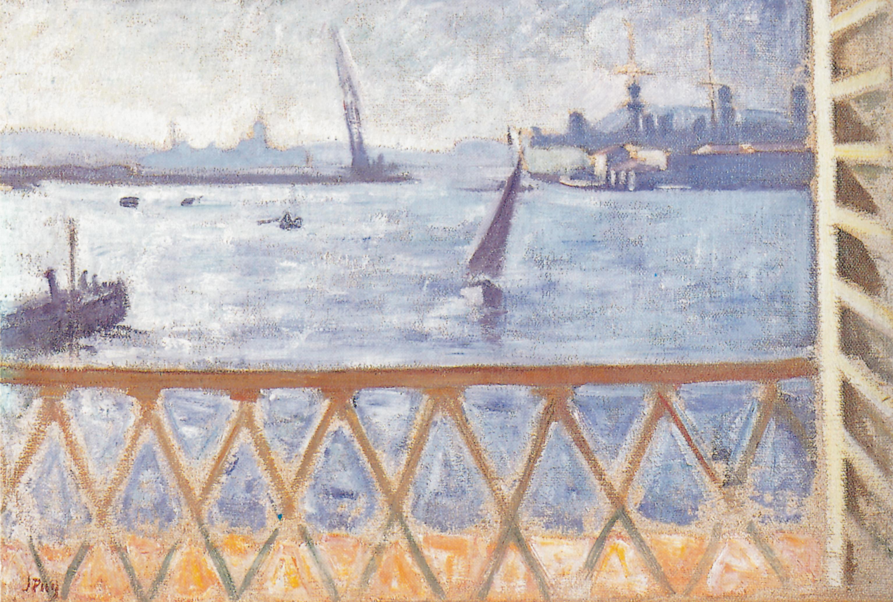 Le Port de Toulon, vu de la fenêtre, 1930, Huile sur toile, 50 x 73 cm, collection particulière