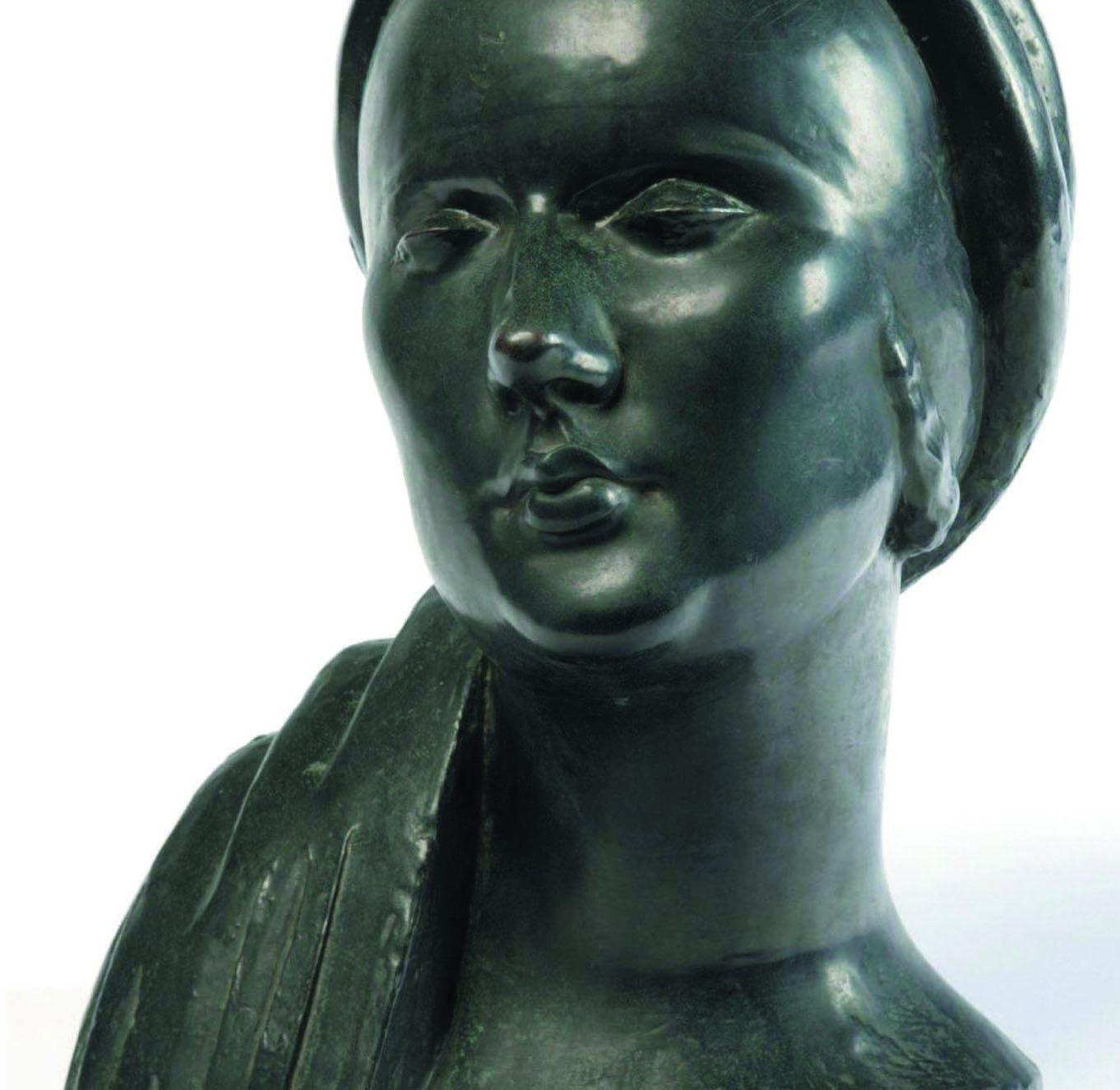 Madame X – Femme au turban 1925 Épreuve en bronze, 31x21x14cm (détail) Coll. Musée d'Israël, Jérusalem