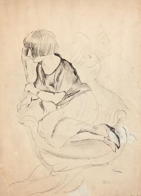 Pascin - LUCY Paris 1921, encre et crayon sur papier, 43 x 30 cm © Comité Pascin , Paris
