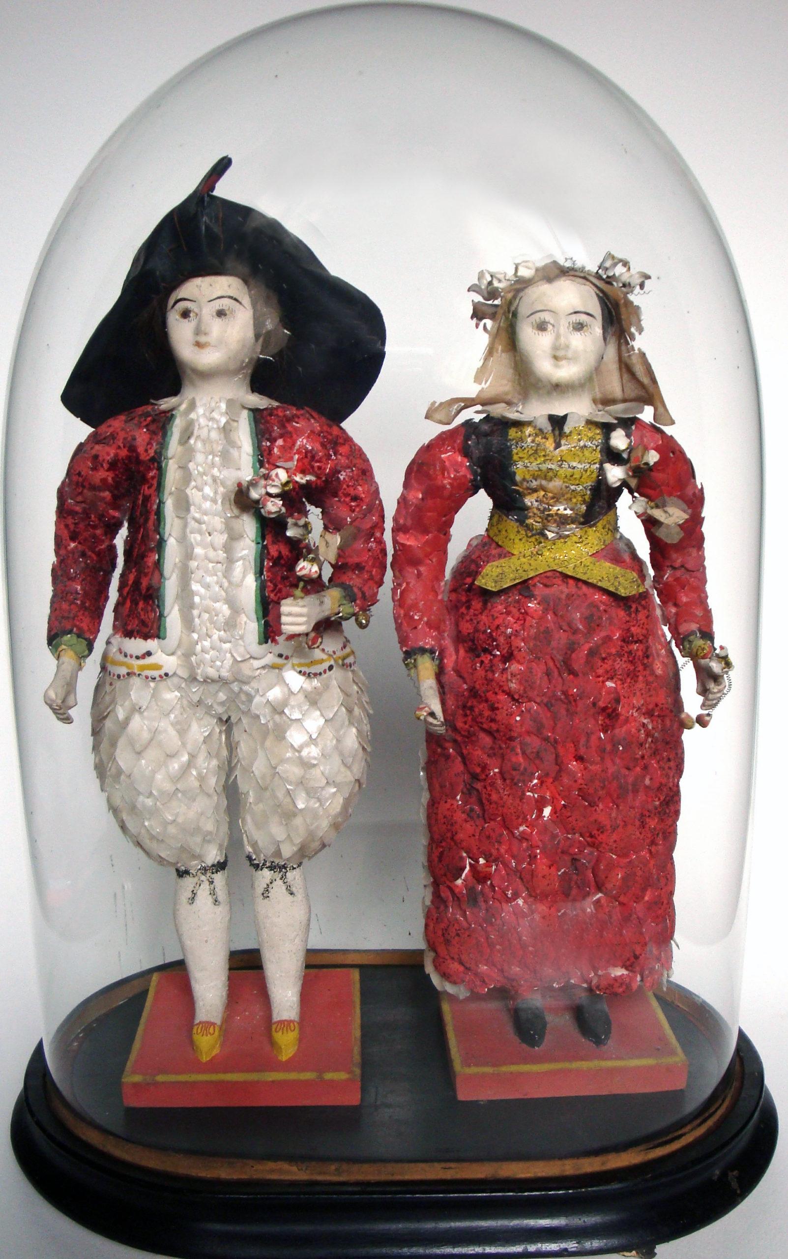 Couple de paludiers guérandais en coquillage - Fin XIXème © document de l'expert