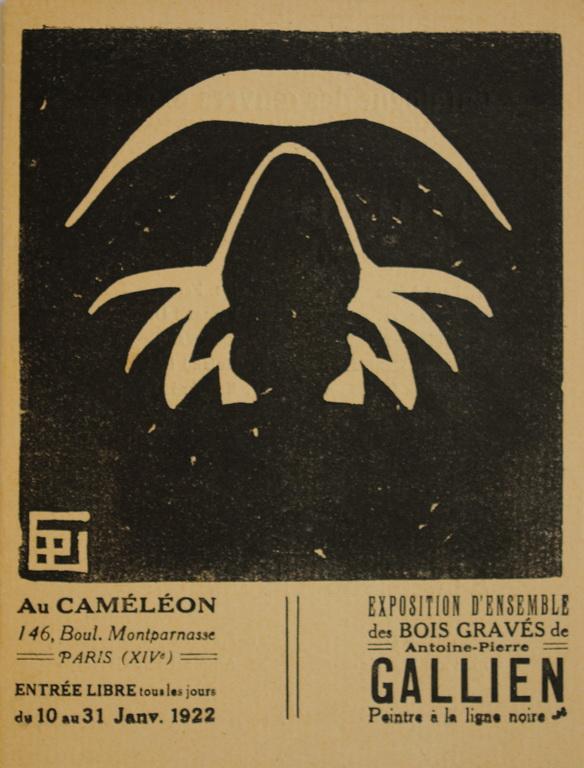 Gallien autoportrait Bois gravé 1922