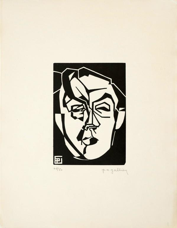 Gallien portrait d'Albert Gleizes Bois gravé 1922