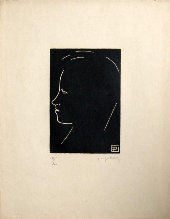 Gallien portrait d'Arthur Rimbaud Bois gravé