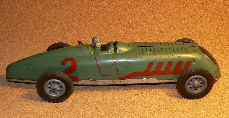Jouet Bugatti Type 35, 32 cm, J.E.P. (Le jouet de Paris), c. 1945
