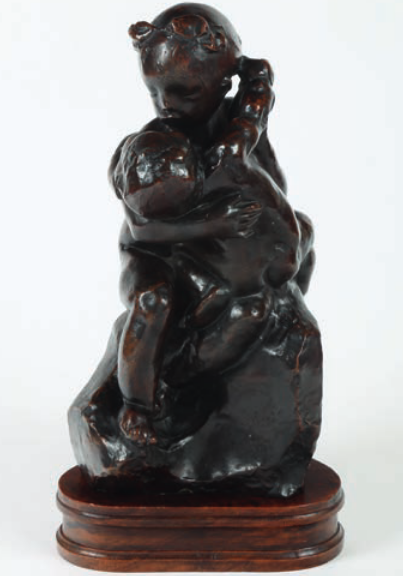 Groupe d'enfants Sculpture en bronze, dédicacée « À Madame Martin » et signée « A. Rodin » au dos. Signature du fondeur « Alexis Rudier - Fondeur Paris ». Haut. : 35,5 cm Provenance : sculpture donnée par l'artiste à Madame Martin, dédicataire, qui était en réalité Marcelle Tirel, sa secrétaire. Vente le 6 juin 2014 Expert : Albert Benamou OVV Chayette & Cheval