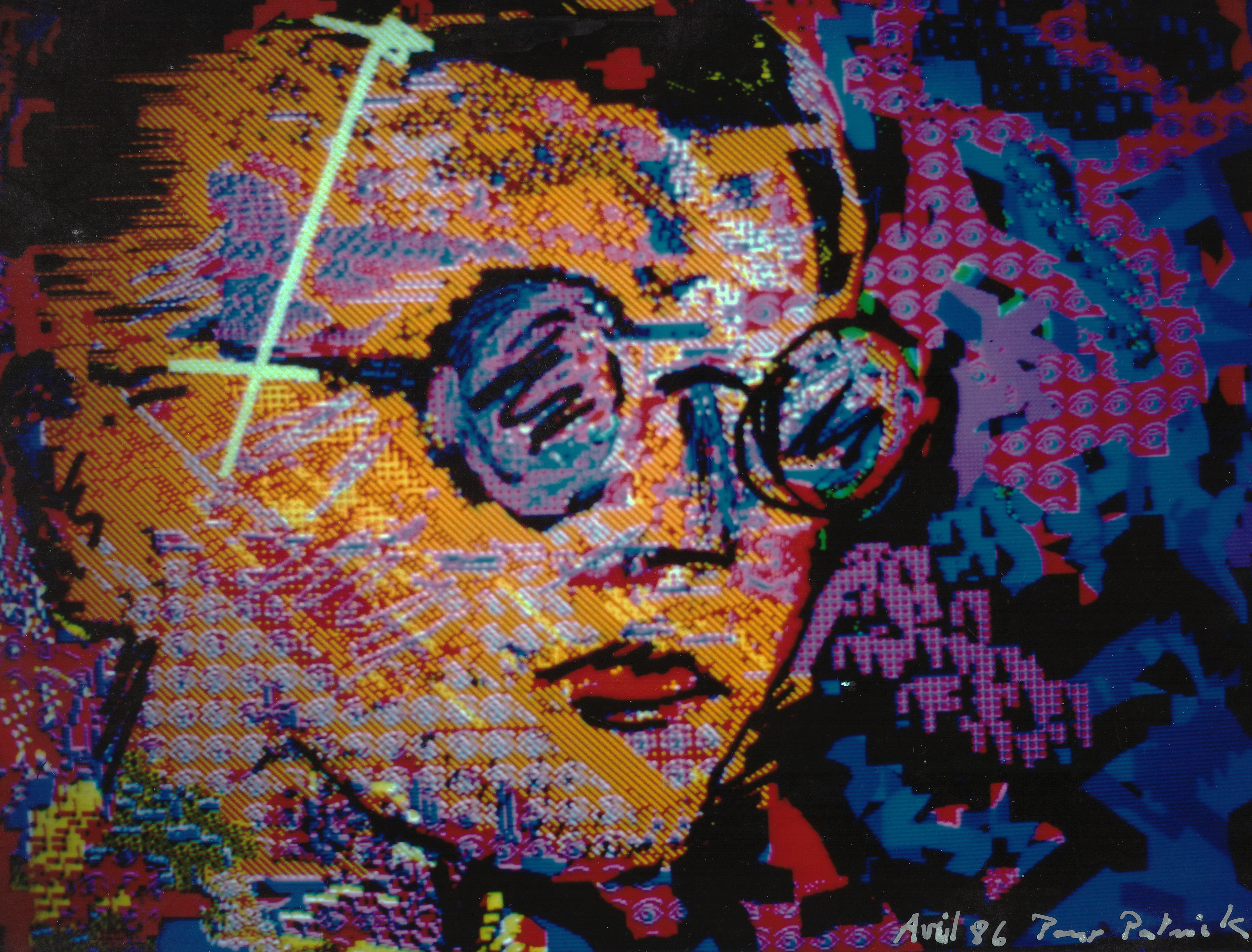 Miguel CHEVALIER Portrait de Patrick