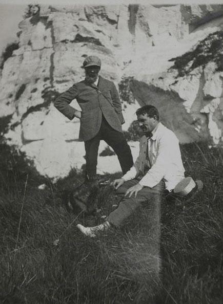 1925 Constantin Brancusi et Fernand Léger © archives de l'expert
