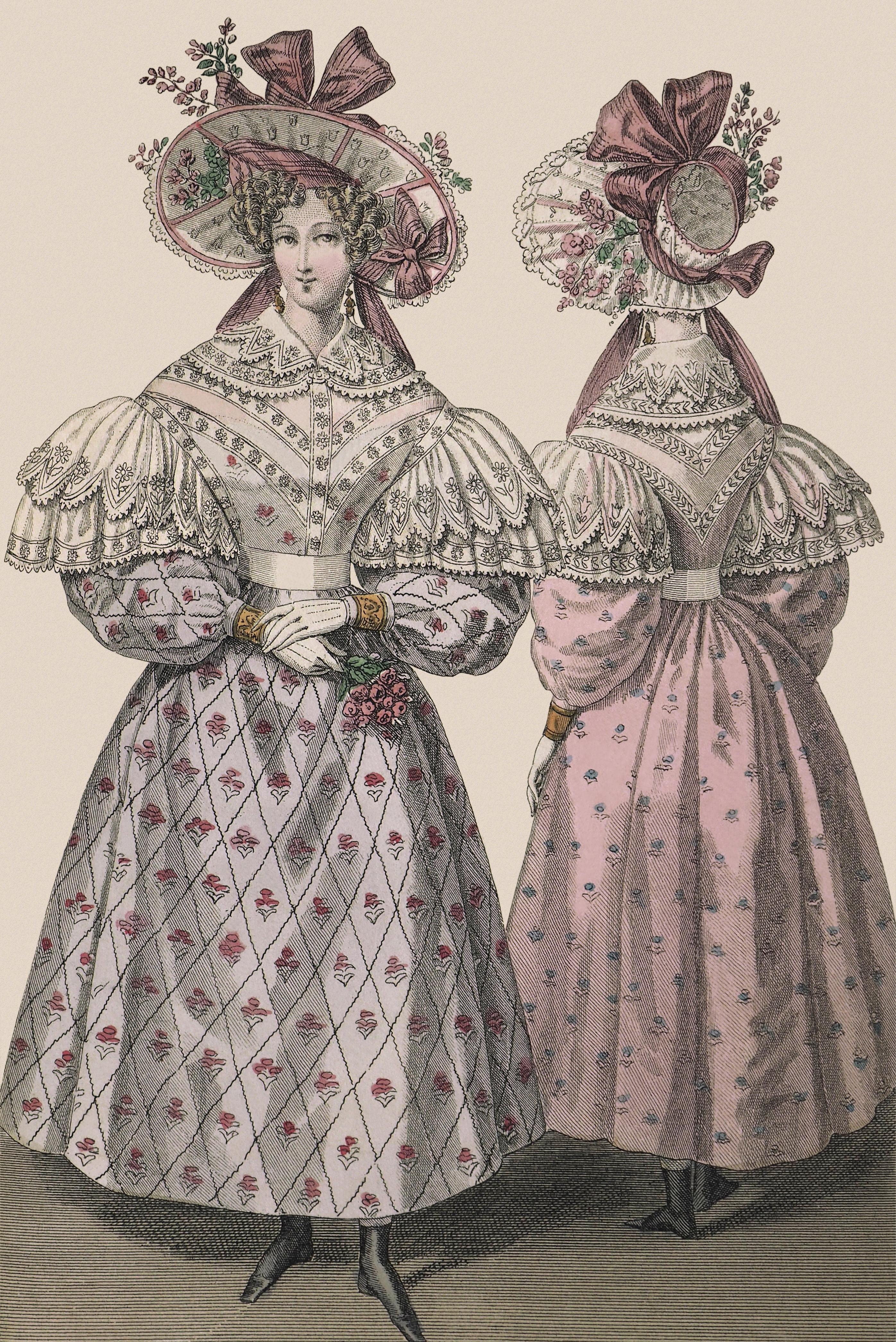 - Journal des dames et des modes, 1830, planche n° 2800, copyright Guénolée Milleret
