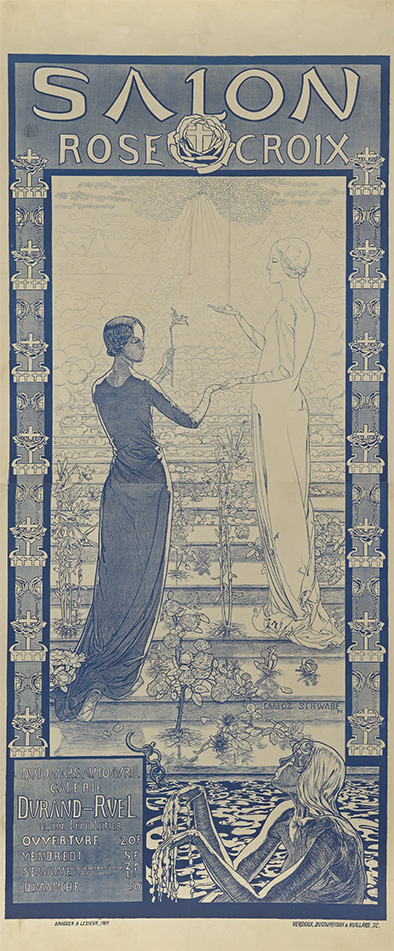 Affiche Salon Rose croix, 1892 lithographie, 199 x 80 cm, collection privée.