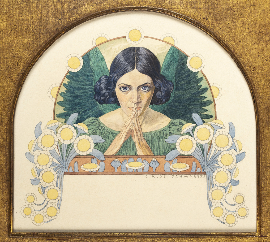 Ange d'espérance, 1895, aquarelle sur papier, 18 x 23 cm, collection privée.