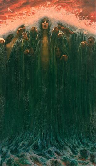La Vague, 1907, huile sur toile 196 x 116 cm, Genève, Musée d'Art et d'Histoire.