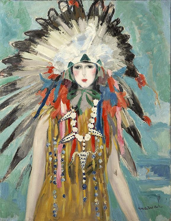 La Reine des Sioux (Madame G. Menier), 1923. 116 x 89 cm. Ancienne collection Paul Baignières. Collection privée, États-Unis.