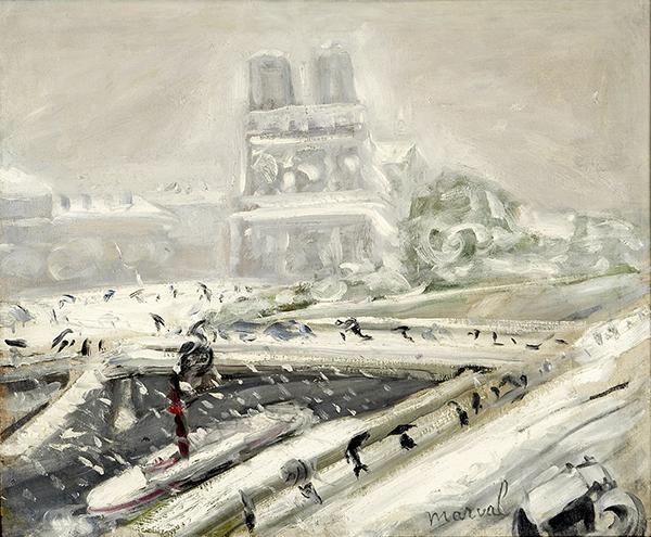 Tempête de Neige sur Notre-Dame, 1917. 72 x 87 cm. Collection privée, Moscou.