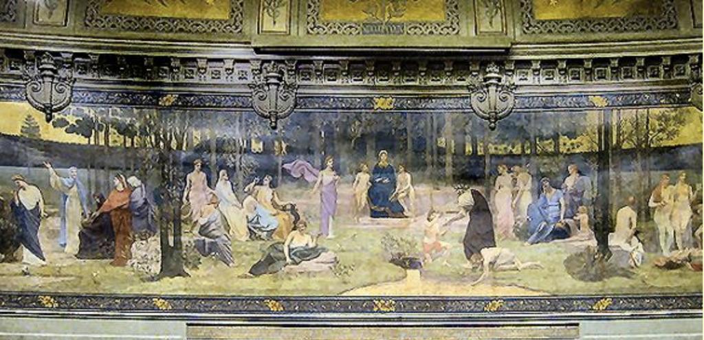 Pierre Puvis de Chavannes, Le Bois sacré, terminé en 1889 - Grand amphithéâtre de la Sorbonne, Paris