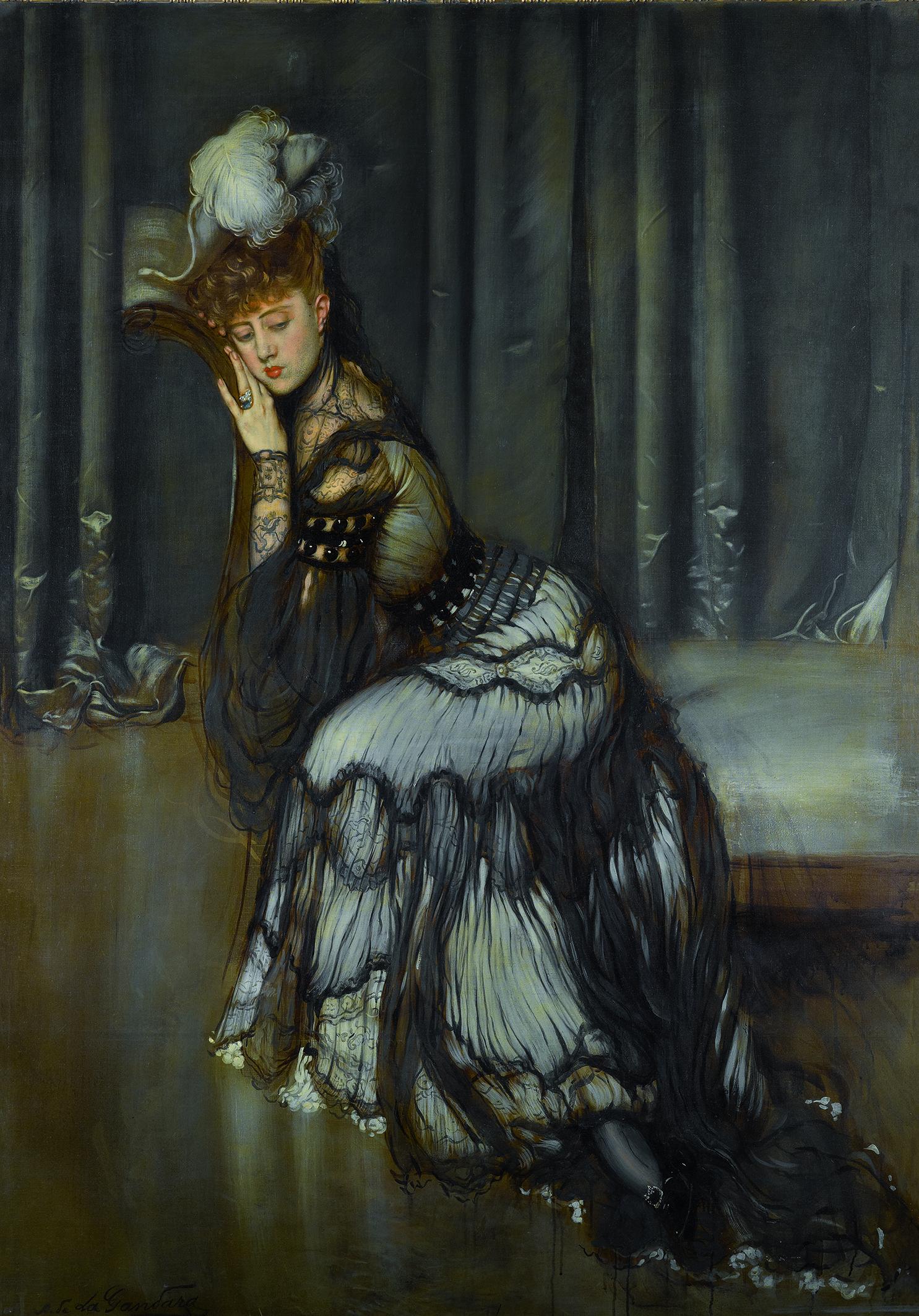 Antonio de La Gandara - Portrait de Madame Rémy Salvator, 1900-1902, Huile sur toile © Archives de l'expert