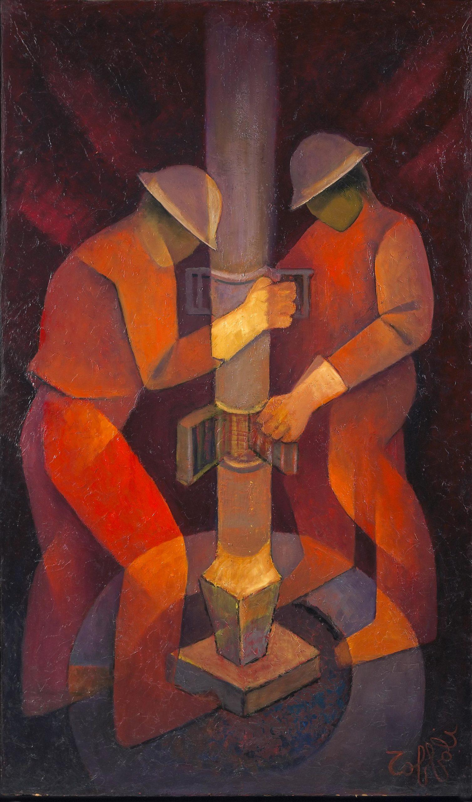 Louis Toffoli - Forage 1978 - 162x97cm