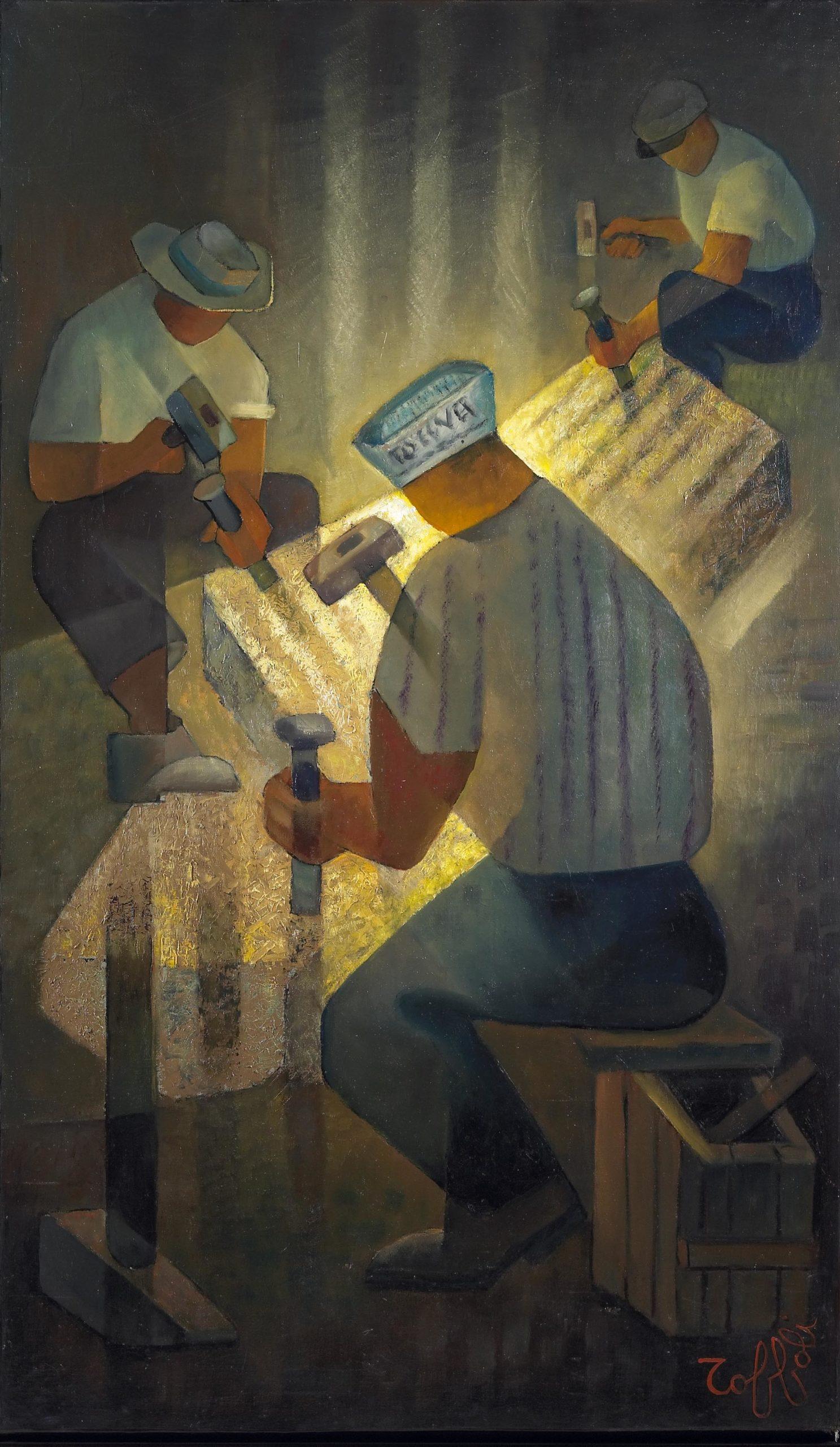 Louis Toffoli -Tailleurs de pierre 1966 - 195x113cm