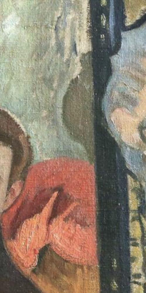"""Jean Puy """"Autoportrait et tête de plâtre"""" 1908 Huile sur toile Coll. part. (détail)"""
