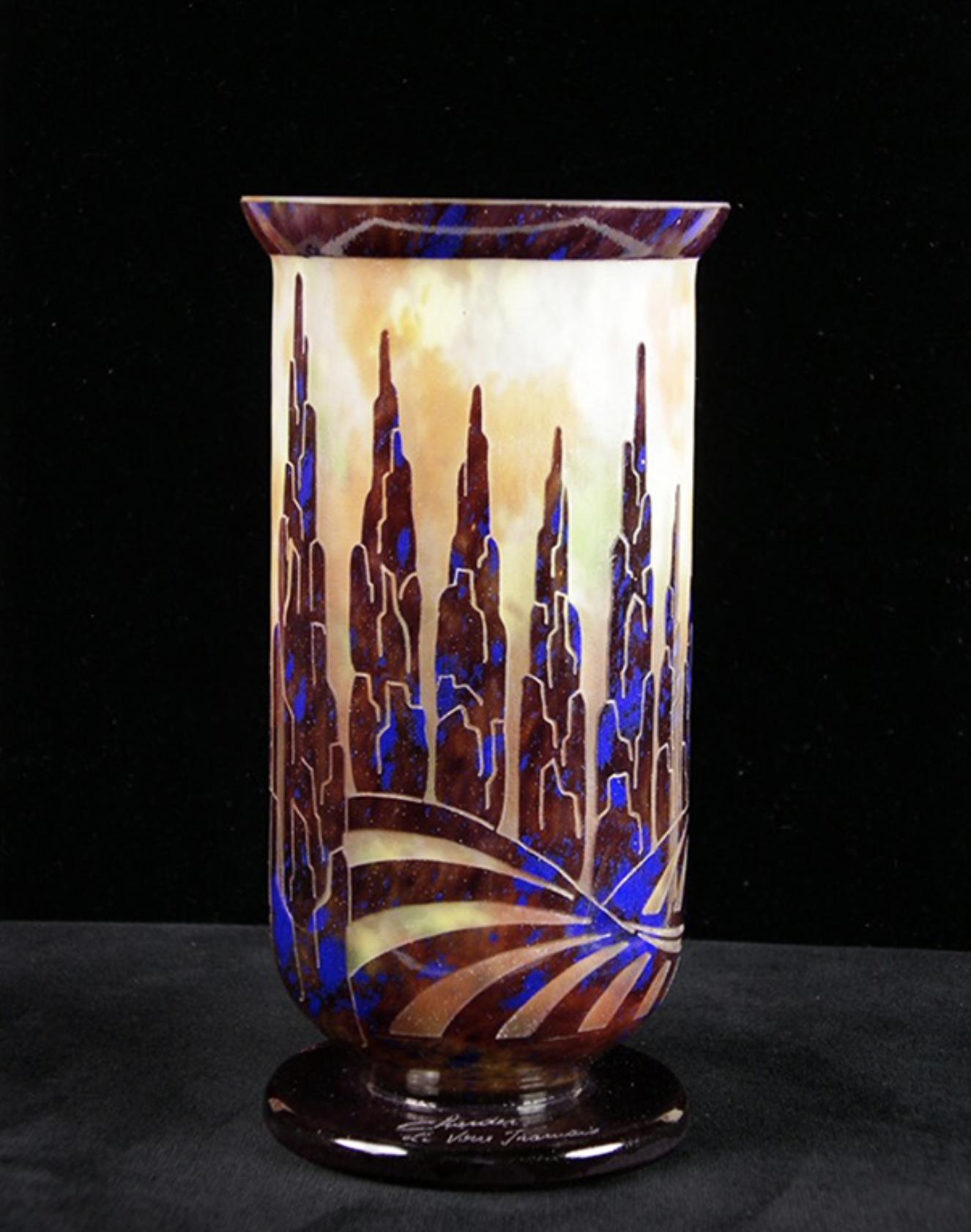 Vase peupliers - Le Verre Français