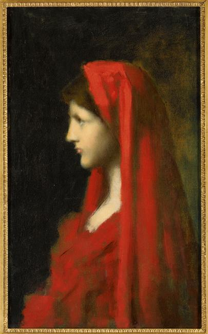 Jean-Jacques Henner, Fabiola. Variante, vers 1890, huile sur toile, Paris, musée national Jean-Jacques Henner. Photo © RMN-Grand Palais / Franck Raux