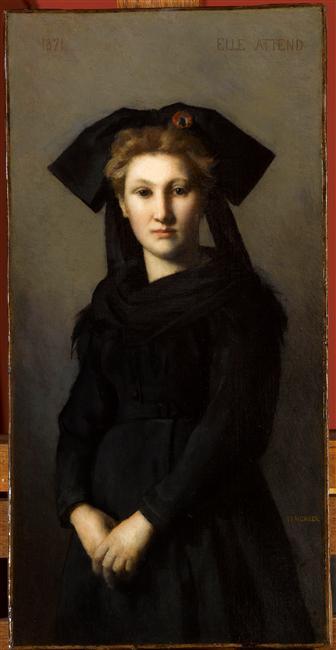 ean-Jacques Henner, L'Alsace. Elle attend, 1871, huile sur toile, Paris, musée national Jean-Jacques Henner. Photo © RMN-Grand Palais / Franck Raux