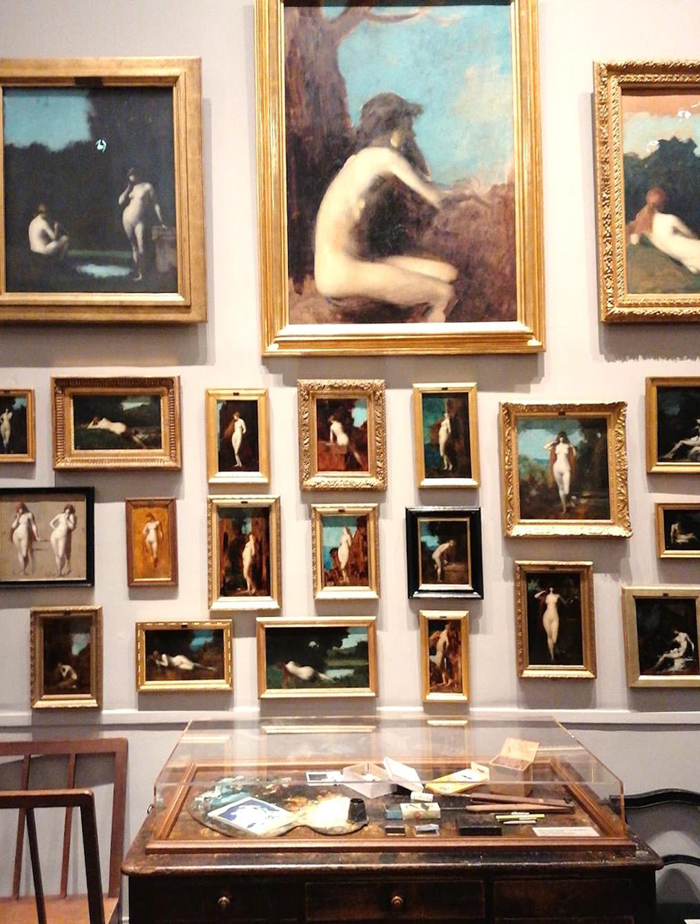 Musée nationaVue de l'atelier du peintre reconstitué au musée national Jean-Jacques Henner à Paris © Victoire de Latour
