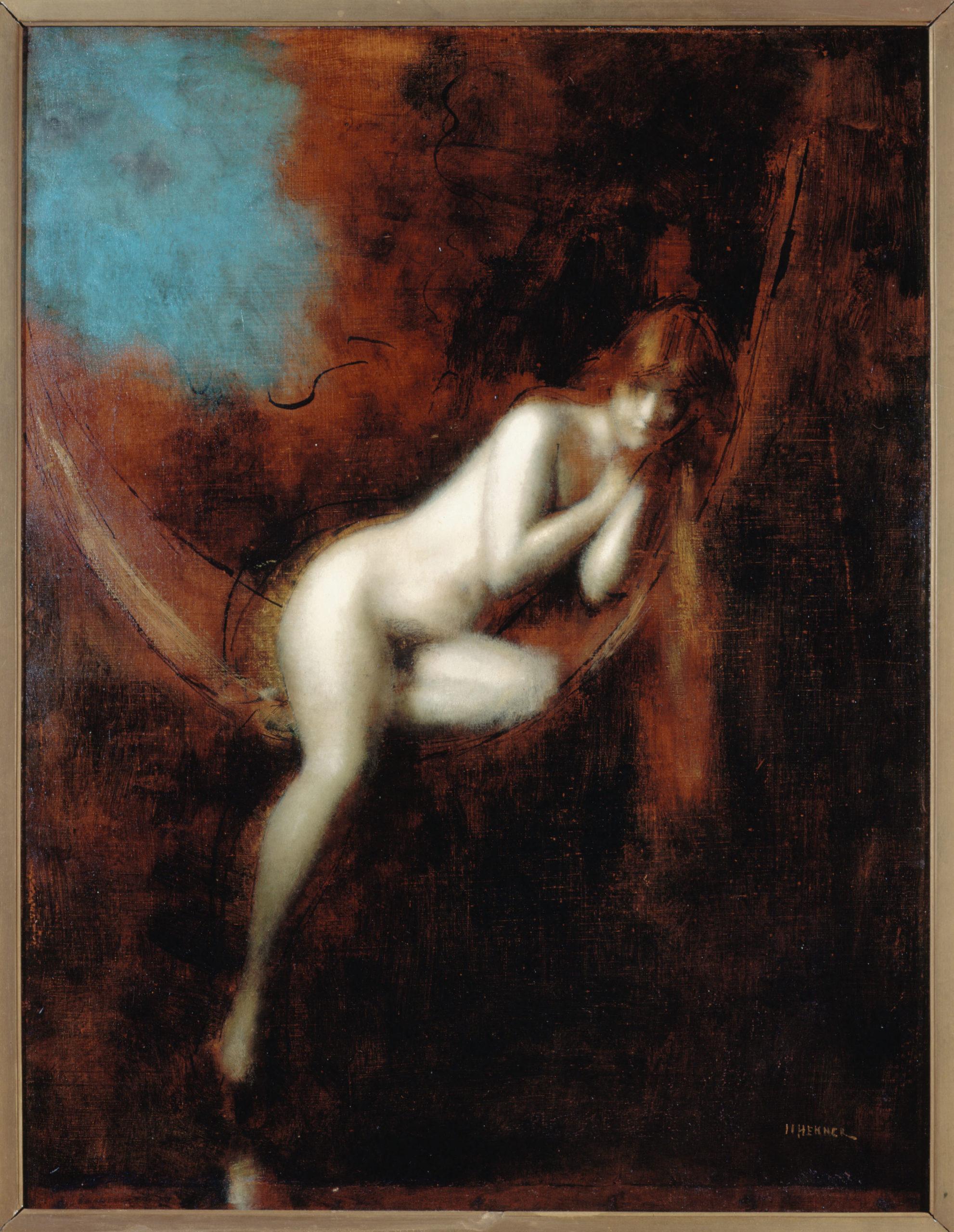 Jean-Jacques Henner, Sara la baigneuse, 1903, huile sur toile, maison de Victor Hugo - Hauteville House. Photo CC0 Paris Musées / maison de Victor Hugo - Hauteville House